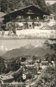 Berchtesgaden Fremdenheim Etzerschloessl Ortsansicht mit Watzmann Kat. Berchtesgaden