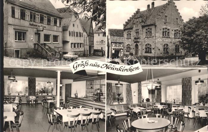 Neunkirchen Mosbach Gasthaus zum Loewen Speisesaal Gastraum Kat. Neunkirchen