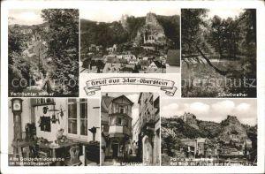 Idar Oberstein Schlossweiher Goldschmiedestube Schloss und Felsenkirche Nahe Kat. Idar Oberstein