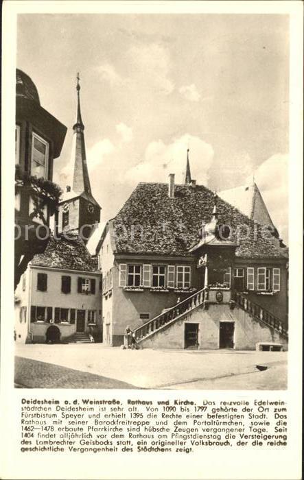 Deidesheim Rathaus Kirche Kat. Deidesheim