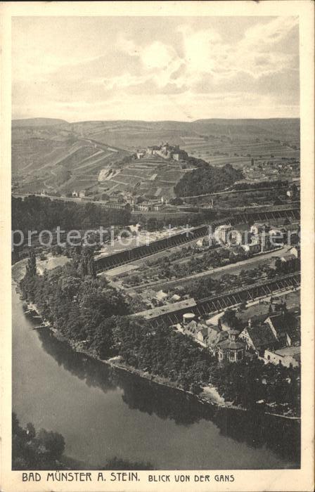 Bad Muenster Stein Ebernburg Blick von der Gans Kat. Bad Muenster am Stein Ebernburg