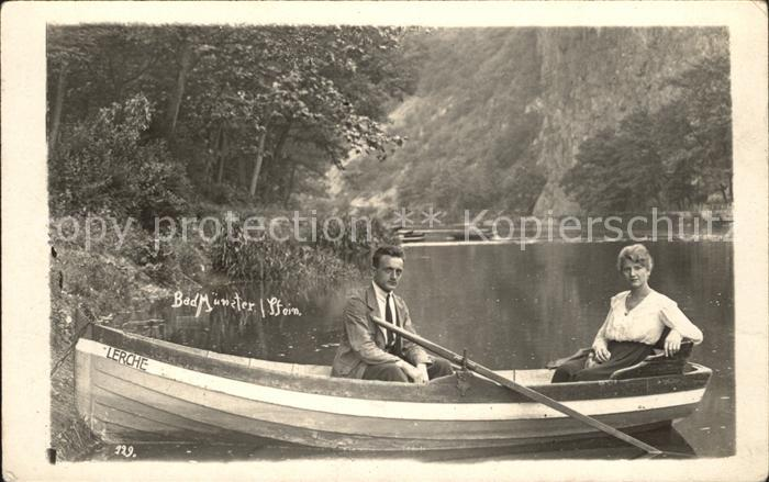 Bad Muenster Stein Ebernburg Paar auf einem Boot Kat. Bad Muenster am Stein Ebernburg