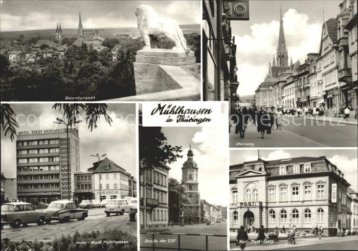 Muehlhausen Thueringen Steinweg Hotel Stadt Muehlhausen Kat. Muehlhausen Thueringen