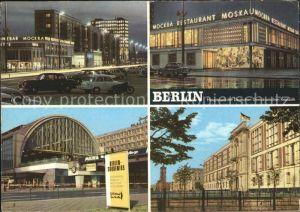 Berlin Karl Marx Allee Restaurant Moskau Bahnhof Alexanderplatz  Kat. Berlin