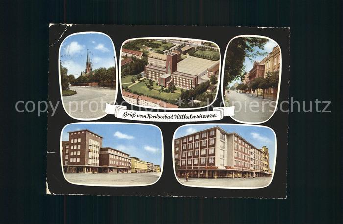 Wilhelmshaven Ebert Strasse Rathaus Virchow Strasse Grenz Strasse  Kat. Wilhelmshaven