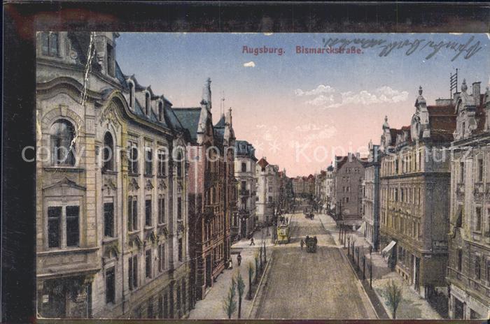 Augsburg Bismarckstrasse  Kat. Augsburg