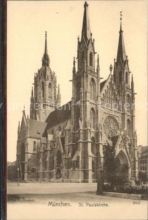 Muenchen St Paulskirche Kat. Muenchen