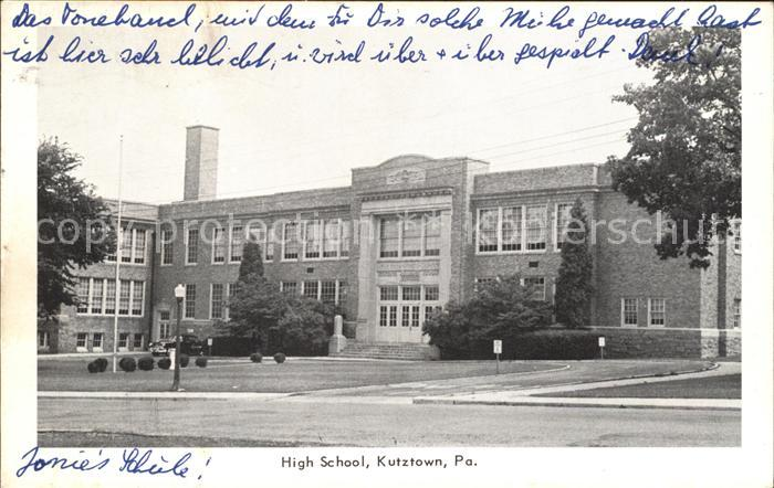 Kutztown High School Kat. Kutztown