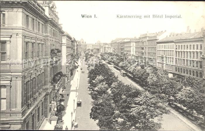 Wien Kaerntnerring mit Hotel Imperial Kat. Wien