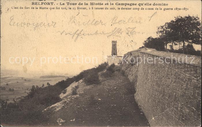 Belfort Alsace Le Tour de la Miotte  Kat. Belfort