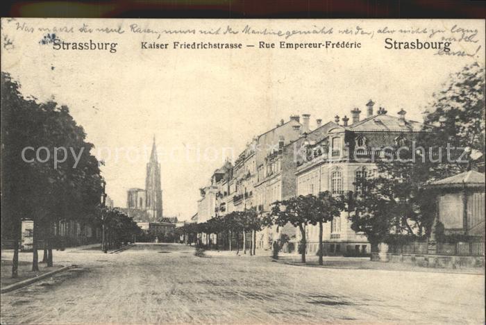 Strassburg Elsass Rue Empereur Frederic Kat. Strasbourg