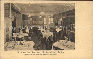 Berlin Restaurant Pschorr Haus Gastraum Kat. Berlin