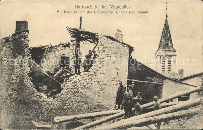 Vigneulles les Hattonchatel Ruine des franzoesichen Generalstabs Kat. Vigneulles les Hattonchatel