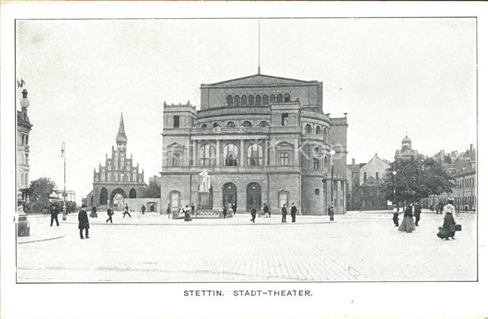 Stettin Westpommern Stadt Theater Kat. Szczecin