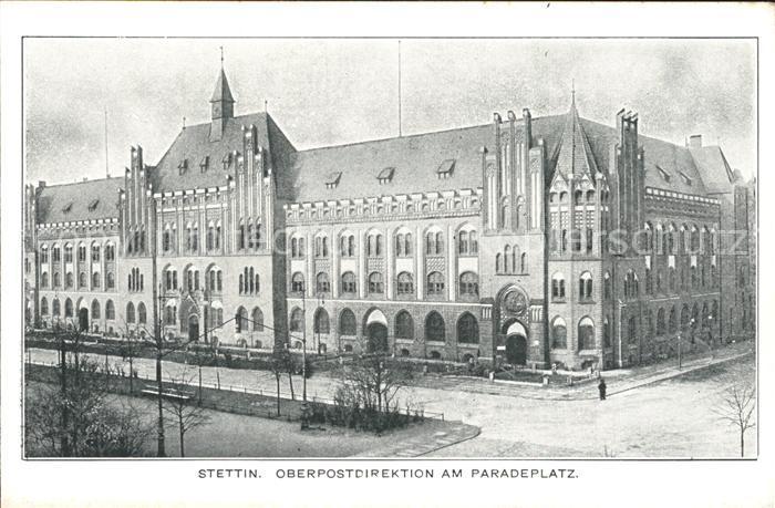 Stettin Westpommern Postdirektion am Paradeplatz Kat. Szczecin