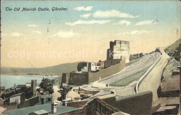 Gibraltar The Old Moorish Castle Kat. Gibraltar