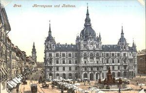 Graz Steiermark Herrengasse und Rathaus Kat. Graz