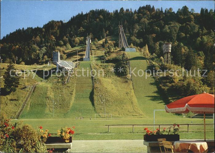 Garmisch Partenkirchen Olympia Skistadion Sprungschanzen Kat. Garmisch Partenkirchen