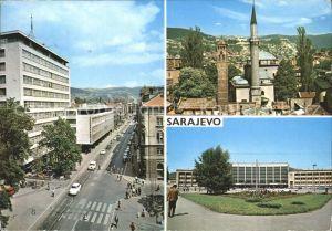 Sarajevo Strassenpartie Teilansicht Gebaeude Kat. Sarajevo