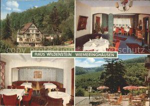Wiemeringhausen Hotel Restaurant Haus Wildenstein Kat. Olsberg