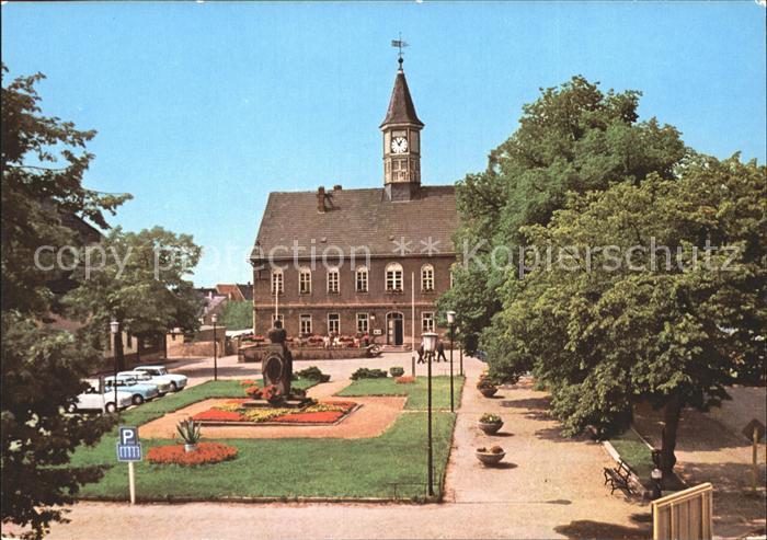 Schildau Platz der DSF mit Gneisenau Denkmal Kat. Schildau Gneisenaustadt