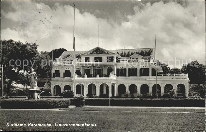 Paramaribo Gouvernementshuis Denkmal Kat. Paramaribo