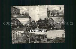 Leverkusen Koelner Str Stadtbad Breidenbachstr Gymnasium Bayer Loewin Botanischer Garten Bayer Kreuz Bayer Hochhaus Kat. Leverkusen