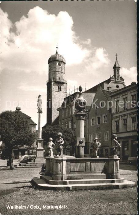 Weilheim Oberbayern Marienplatz / Weilheim i.OB /Weilheim-Schongau LKR