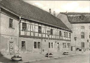 Kapellendorf Gaststaette im Innenhof der Wasserburg Kat. Kapellendorf