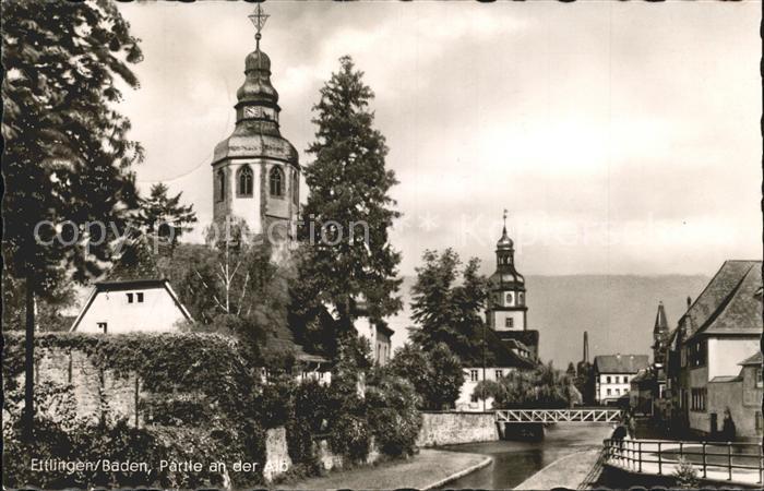 Ettlingen Alb Kirche Kat. Ettlingen