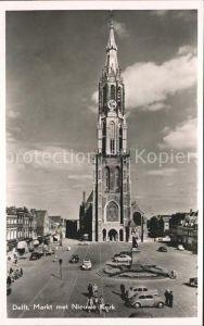 Delft Markt met Nieuwe Kerk Kat. Delft