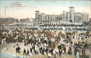 Scheveningen Strand Oranje en Palace Hotel Kat. Scheveningen
