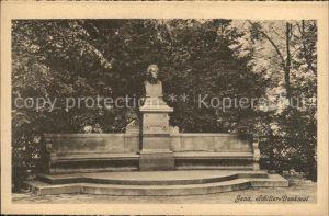 Jena Schiller Denkmal Bueste Kat. Jena