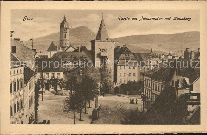 Jena Partie am Johannistor mit Hausberg Turm Kat. Jena