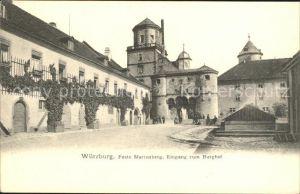 Wuerzburg Feste Marienberg Eingang zum Burghof Kat. Wuerzburg