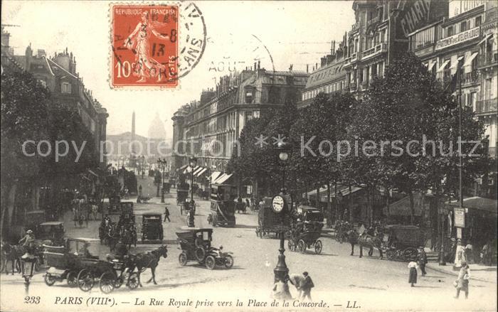 Paris La Rue Royale prise vers la Place de la Concorde Kat. Paris