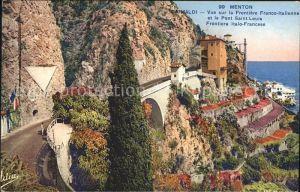 Menton Alpes Maritimes Grimaldi Frontiere Franco Italienne Pont Saint Louis Cote d Azur Kat. Menton