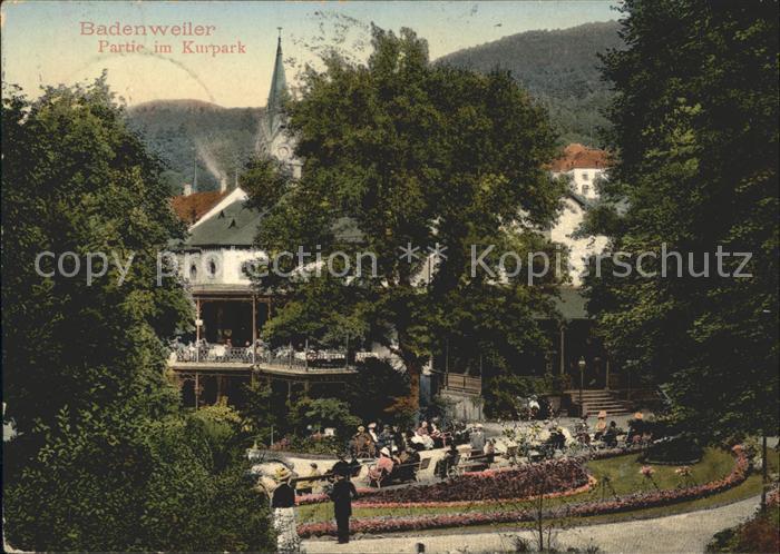 Badenweiler Partie im Kurpark Kat. Badenweiler