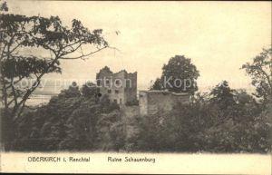 Oberkirch Baden Burg Ruine Schauenburg im Renchtal Kat. Oberkirch