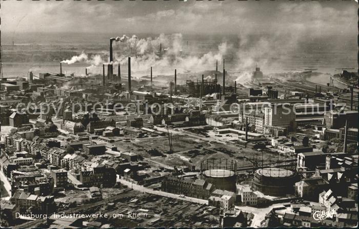 Duisburg Ruhr Industriewerke am Rhein Kat. Duisburg