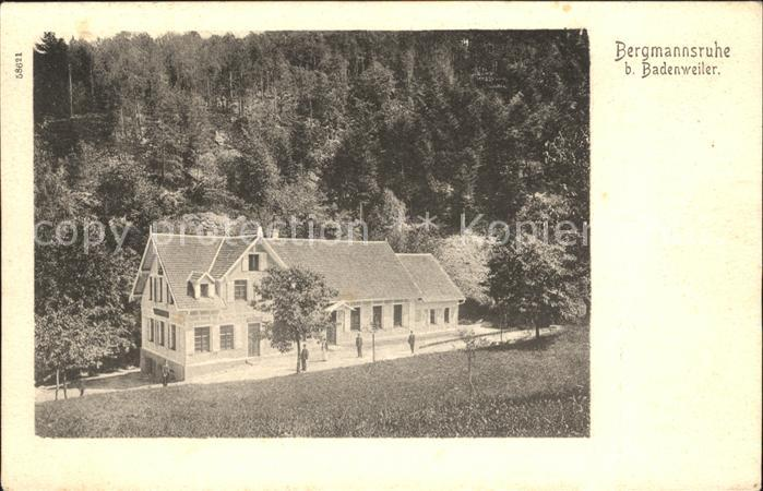 Badenweiler Bergmannsruhe Kat. Badenweiler