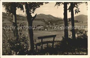 Bad Kohlgrub Panorama Blick vom Waldrand Ruhebank Kat. Bad Kohlgrub