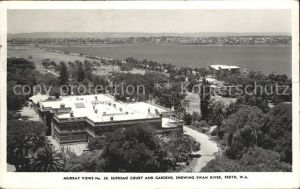 Perth Western Australia Supreme Court and Gardens Swan River Kat. Perth