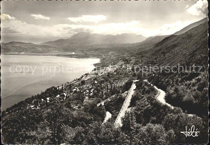 Le Bourget du Lac Savoie Panorama Route du Col du Chat Lac Kat. Le Bourget du Lac