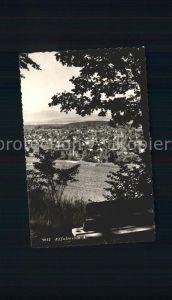 Affoltern Albis Panorama Blick vom Waldrand Ruhebank Kat. Affoltern Albis