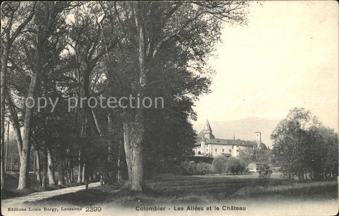 Colombier NE Les Allees et le Chateau Schloss Kat. Colombier NE