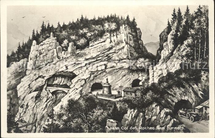 Col des Roches Les tunnels Kat. Roches Col des
