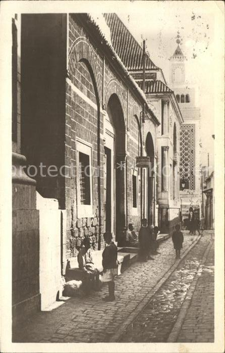 Tunis Rue Sidi Ben Arcus et Grande Mosquee Kat. Tunis