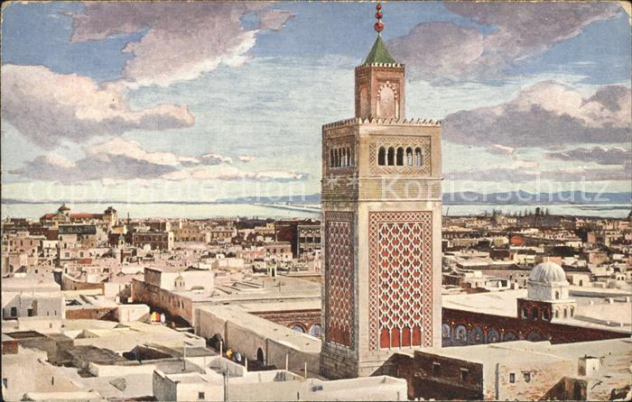 Tunis et la Grande Mosquee Kat. Tunis