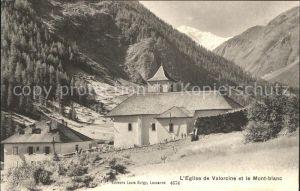 Vallorcine Haute Savoie Eglise et le Mont Blanc Kat. Vallorcine